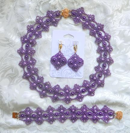 (5) Name: 'Jewelry : Echo of Deco Beaded Lace SET