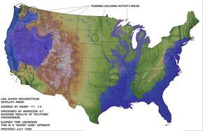 Edgar Cayce Map Of Where There Will Be Flooded Areas In The Us