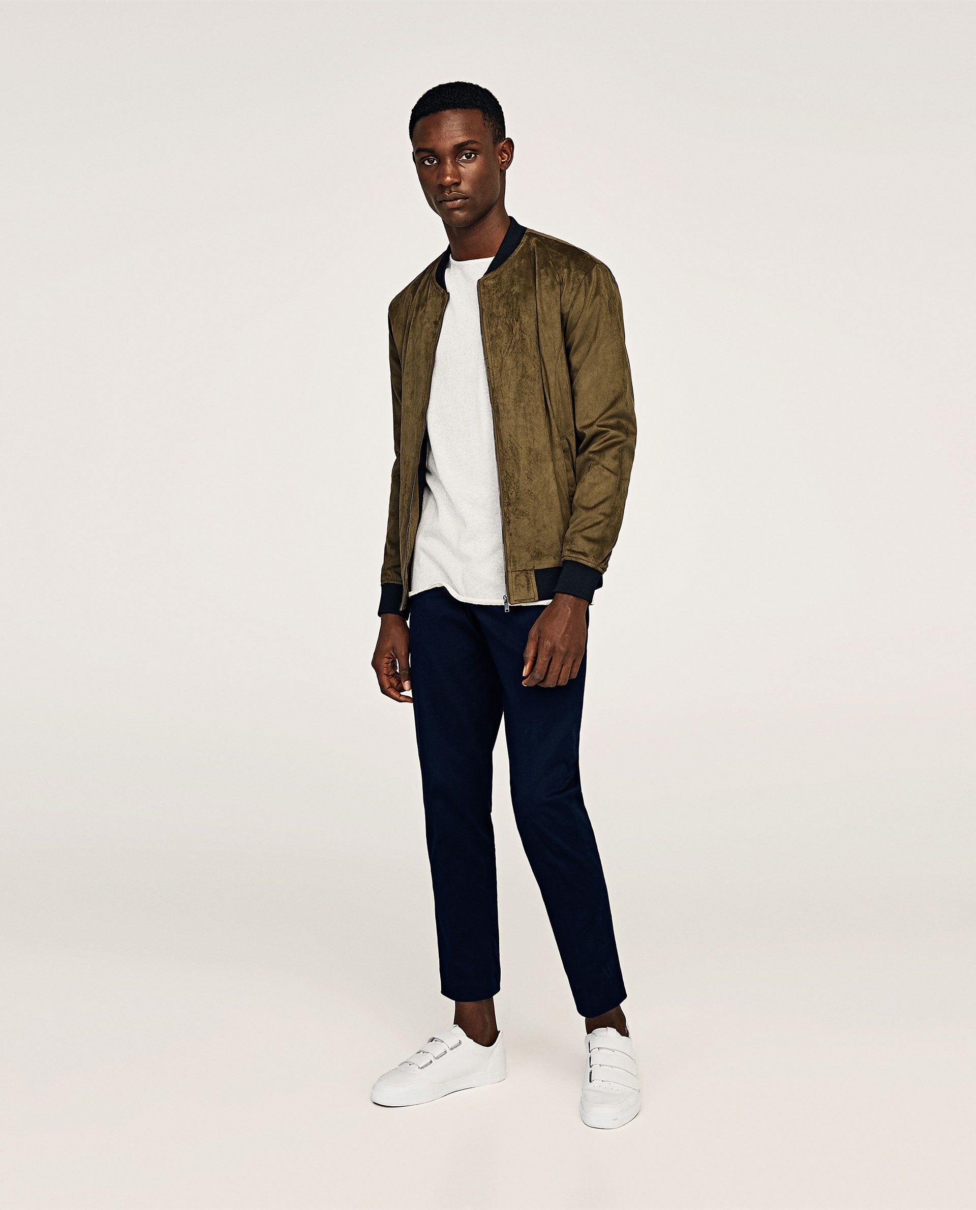 Image 1 of FAUX LEATHER BOMBER JACKET from Zara Bomber