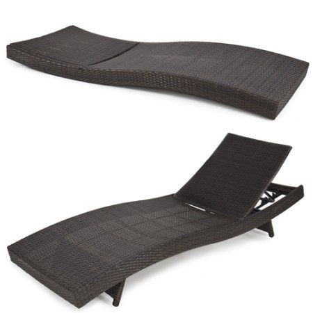 Best Choice Products Adjustable Modern Wicker Chaise Lounge Chair