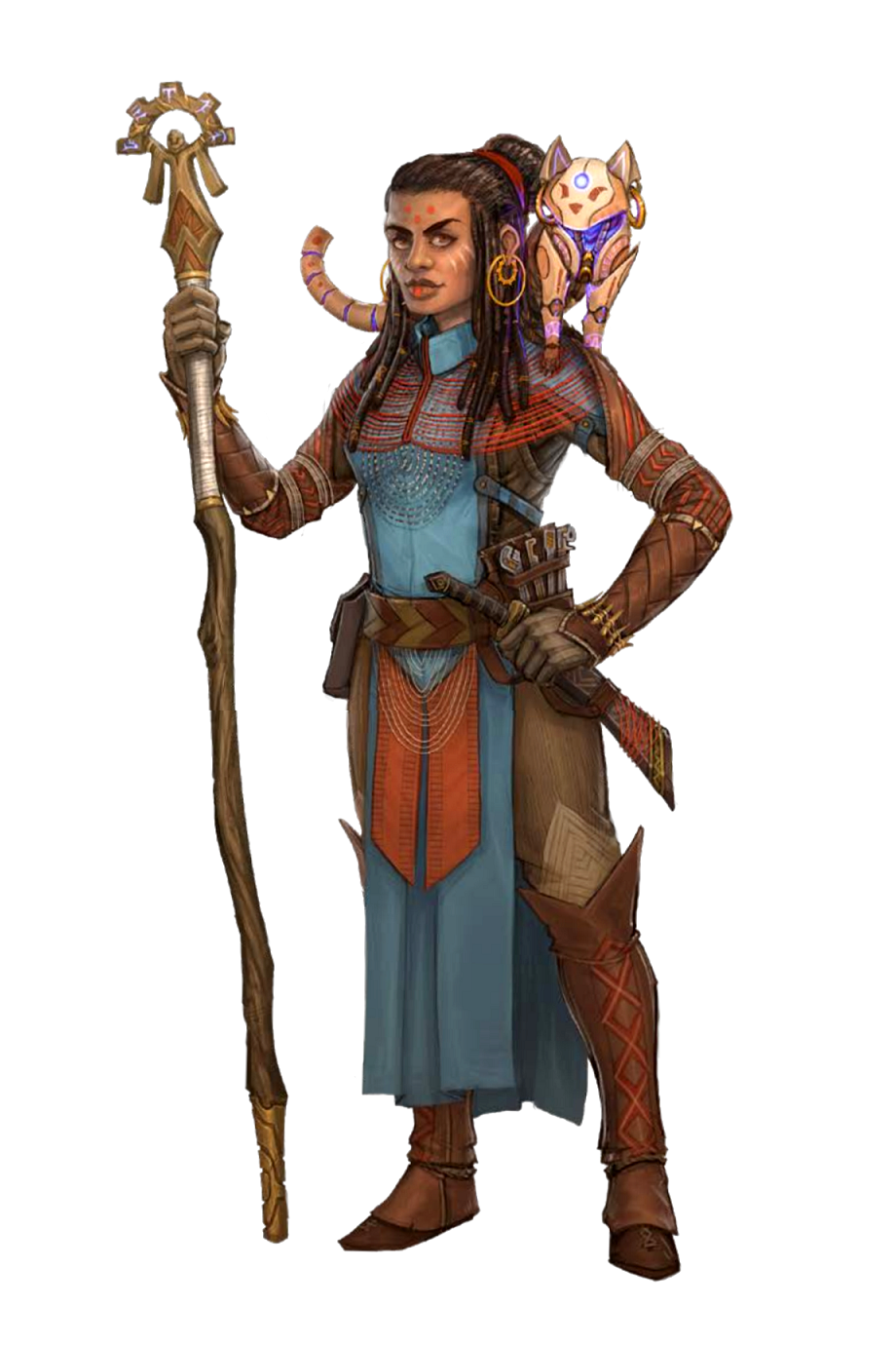Female Human Clockwork Familiar Wizard - Pathfinder PFRPG