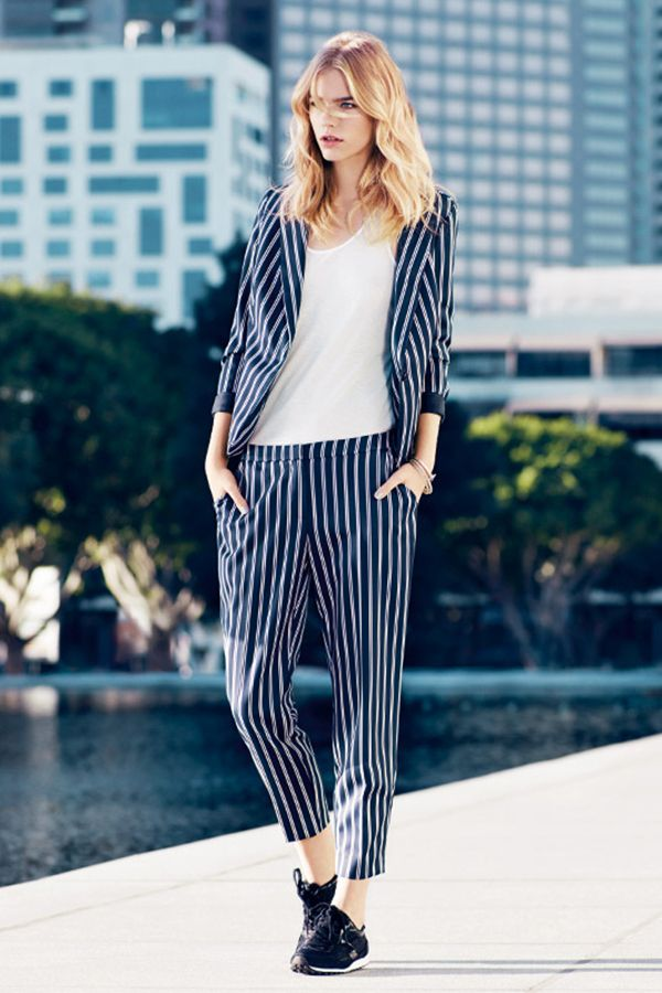 Adapt your work wardrobe for summer, by mixing in loose lines and a hint of nautical stripe.