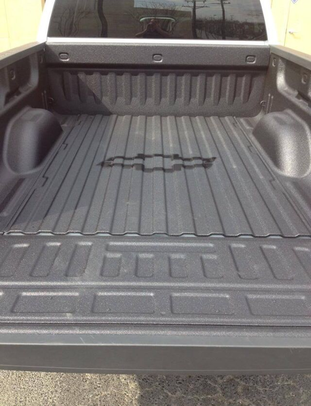 Spray In Bed Liner With Chevy Logo Spray On Bedliner Bed Liner Truck Bed Liners