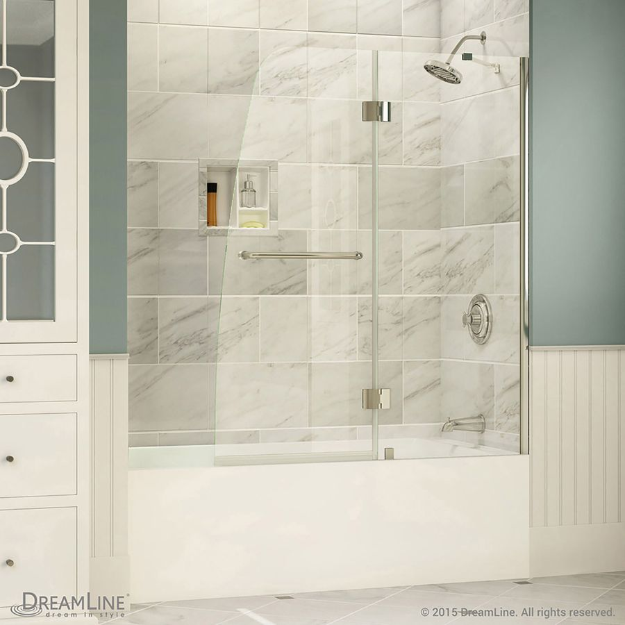 Dreamline Aqua 48 In W X 58 In H Frameless Bathtub Door Shdr 3148586