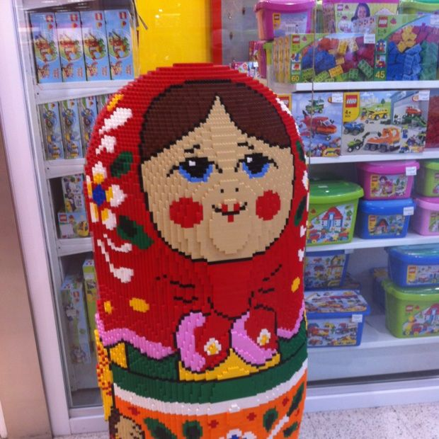 Russian nesting doll made from legos!