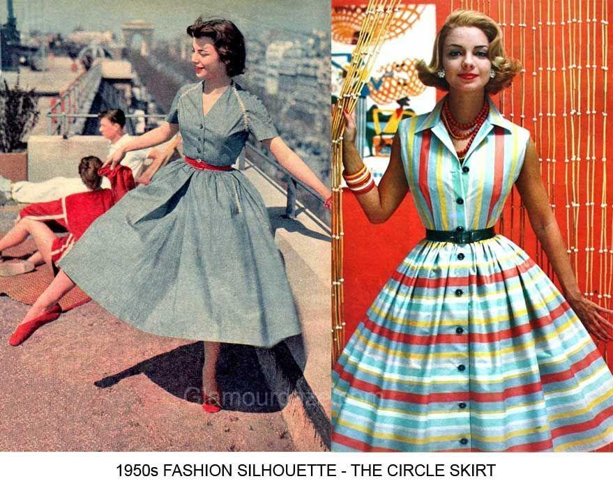 5d96427b77 1950s Fashion - The Feminine Figure and Silhouette