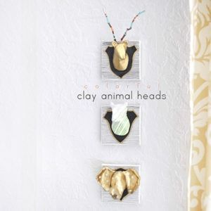 Colorful Clay Animal Heads