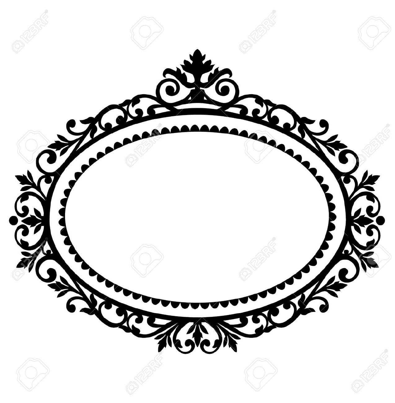 8087576-Decorative-frame-Stock-Vector-frame-vintage-oval.jpg (1275 ...
