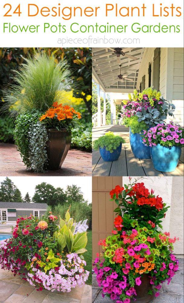 24 Stunning Container Garden Planting Ideas