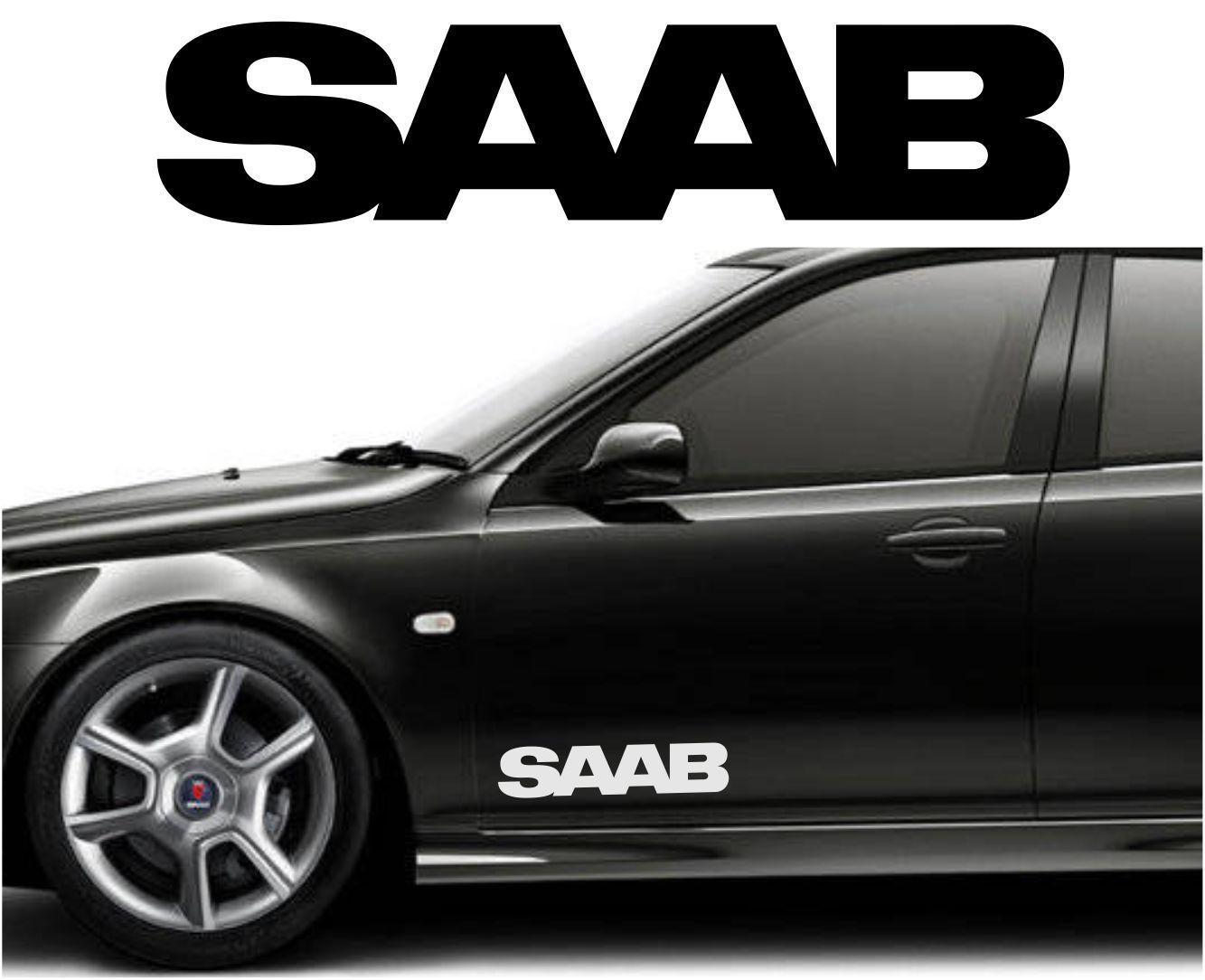 Saab Car Body Tuning Custom Vinyl Sticker Decal Graphic 2 Stickers Decal 93 95 Custom Vinyl Stickers Vinyl Sticker Car