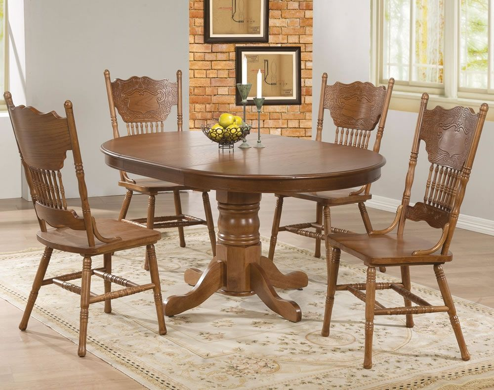 Vintage Oak Dining Table And Chairs