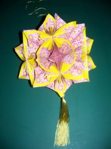 Blütenkugel aus Papier | Bastelfrau