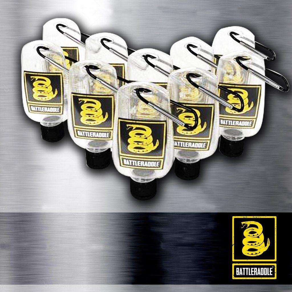 Battleraddle Germ Killer Hand Sanitizer Squirt Bottle Keychain