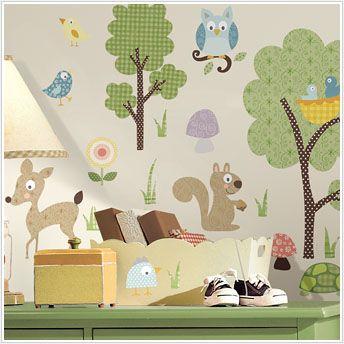 Woodland Animals Wall Decals  $13.49  roommatespeelandstick.com