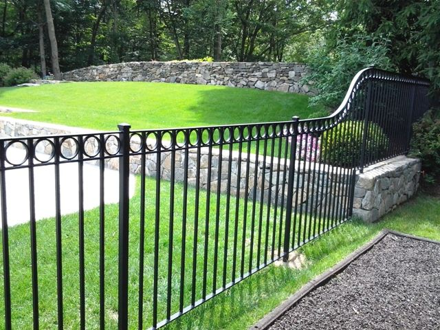 Curvy Wrought Iron Fence Wrought Iron Pool Fence Fence Design
