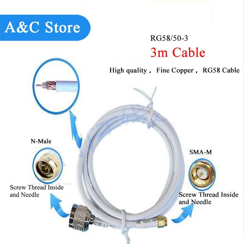 US $12.99 Antennenkabel Sma-stecker auf N-stecker mit 3 mt kabel ...
