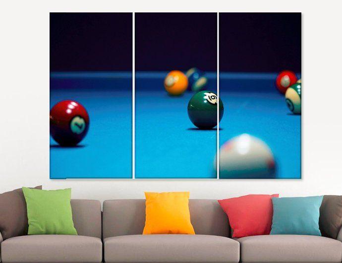 Billiards Wall Decor Billiards Canvas Art Billiards Wall Art Pool ...