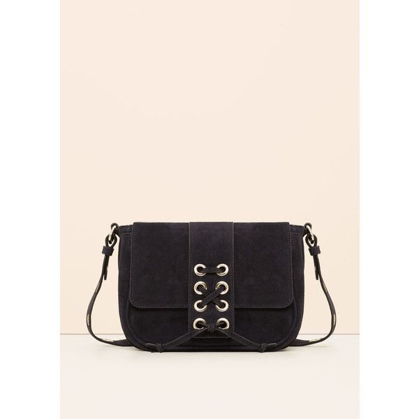 Violeta BY MANGO Leather Cross Body Bag (6,630 INR) ❤ liked on Polyvore featuring bags, handbags, shoulder bags, plus size, leather crossbody handbags, woven-leather handbags, leather purses, pink leather handbags and pink handbags
