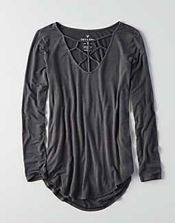 145e6078e6b AEO Soft   Sexy Cage Front T-Shirt