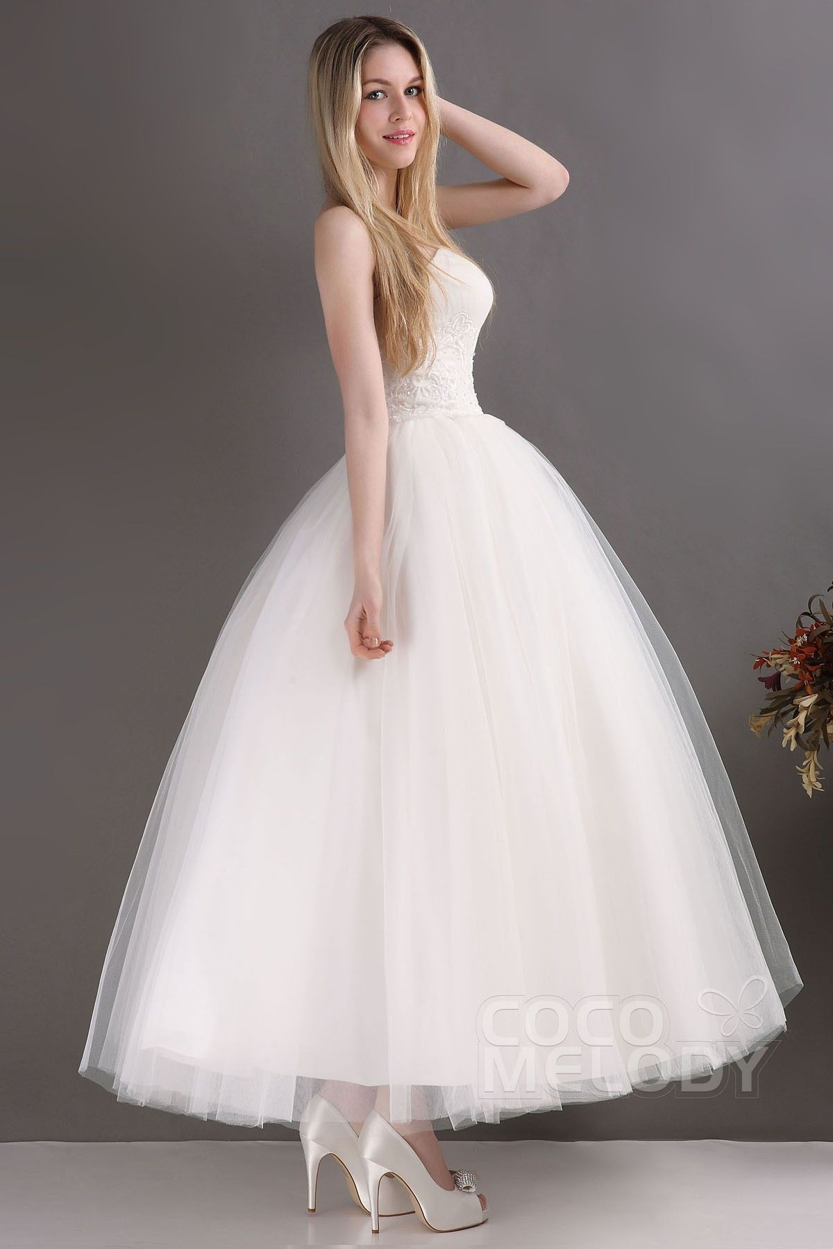 Usd 199 Princess Ankle Length Tulle Wedding Dress Cwla13001 Ball Gown Wedding Dress Tulle Wedding Dress Ball Gowns Wedding [ 1800 x 1200 Pixel ]