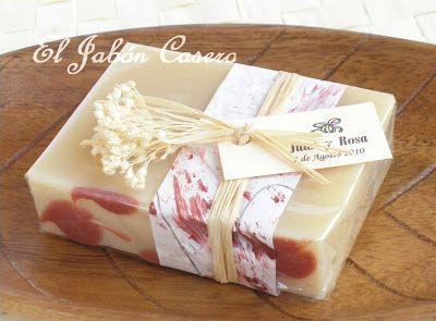 Jabones Rosas Blancas detalles de boda