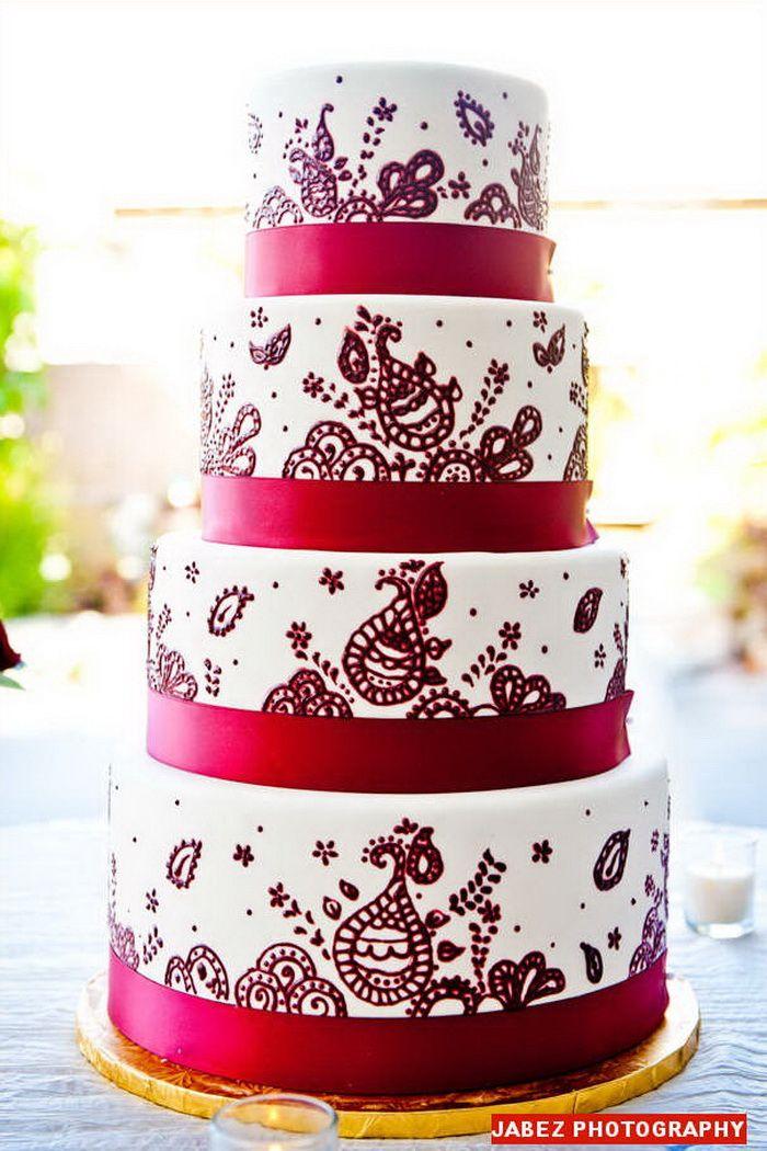 4 Tier Red Velvet Wedding Cake Ideas