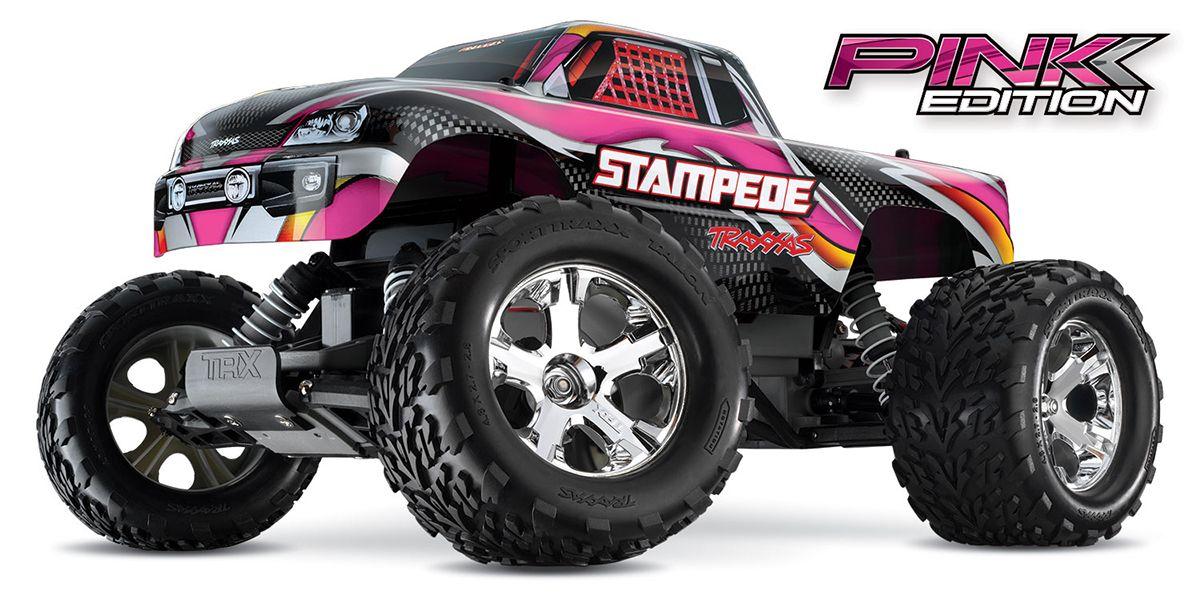 Traxxas pink Stampede Traxxas, Monster trucks, Traxxas