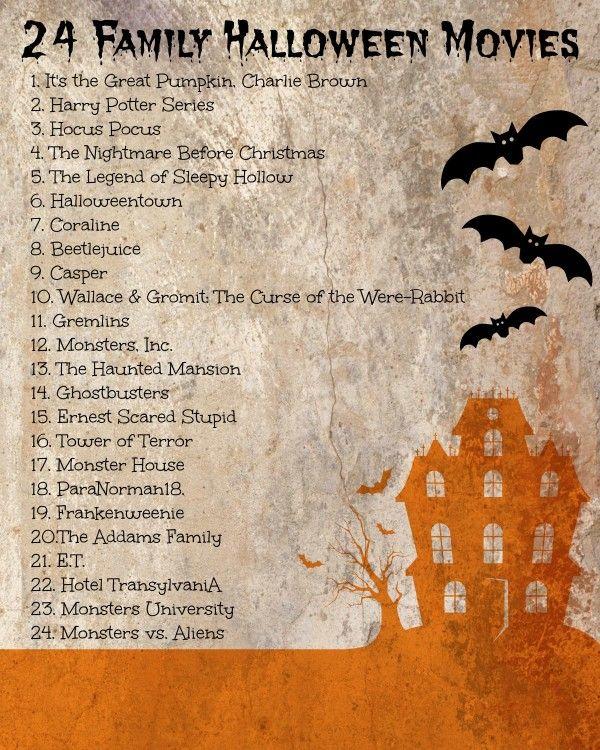 24 Family Halloween Movies! halloween Halloween movies