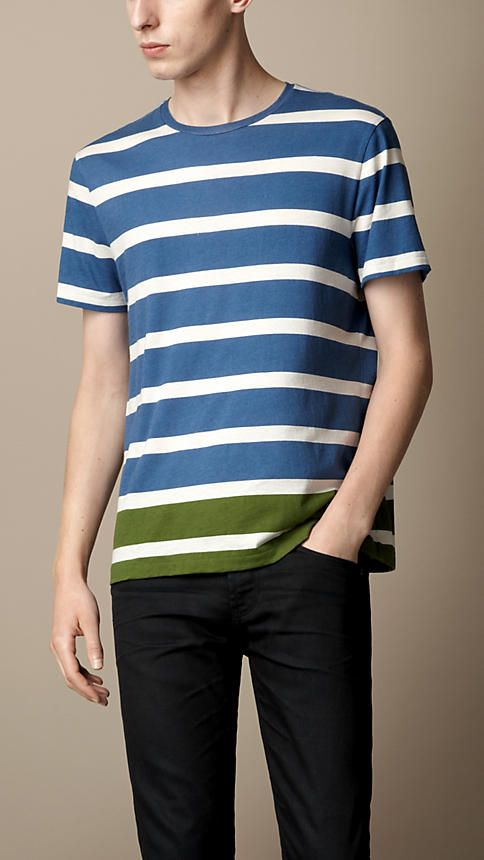 Burberry Brit Contrast Stripe T-Shirt