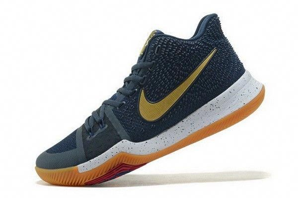 bd47cf124 Nike Kyrie 3 Dark Obsidian Metallic Gold-White Mens Basketball Shoes  #adidasbasketballshoes