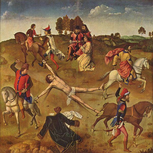 Martyre de Saint Hippolyte, tableau de Dirk Bouts (1470-1475).