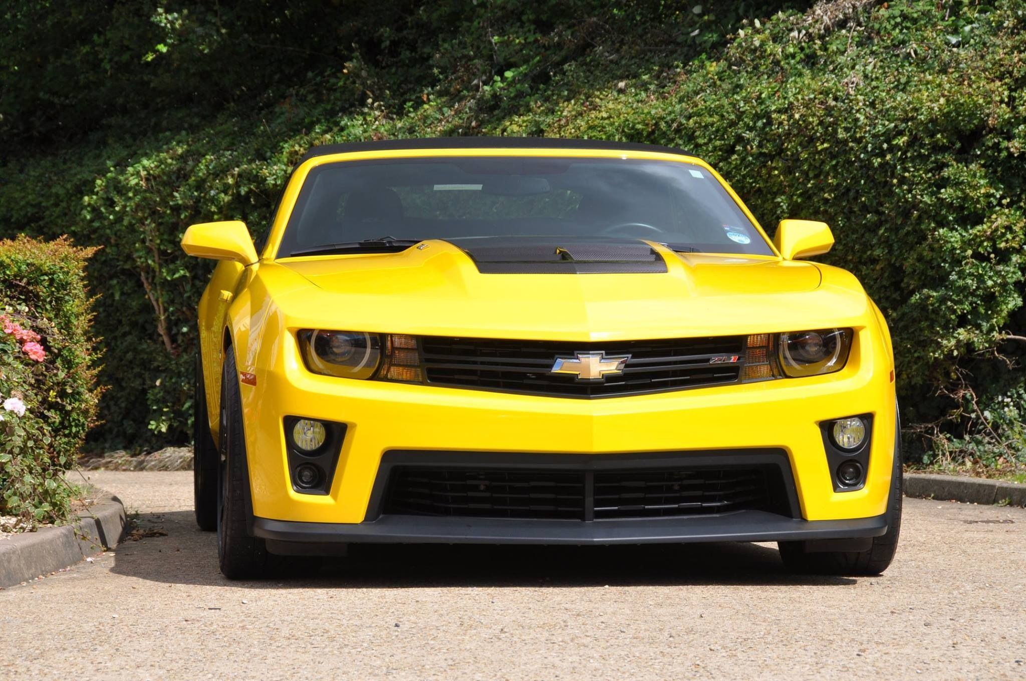 Camaro Zl1 Supercharged Convertible In Yellow Zl1 Camaro Chevy