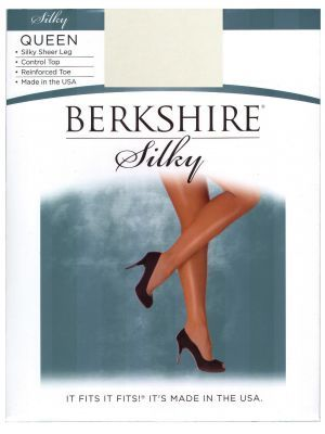 Berkshire Queen Silky Sheer Control Top Pantyhose - Reinforced Toe, Available at #EssentialApparel also in multiple sizes and colors