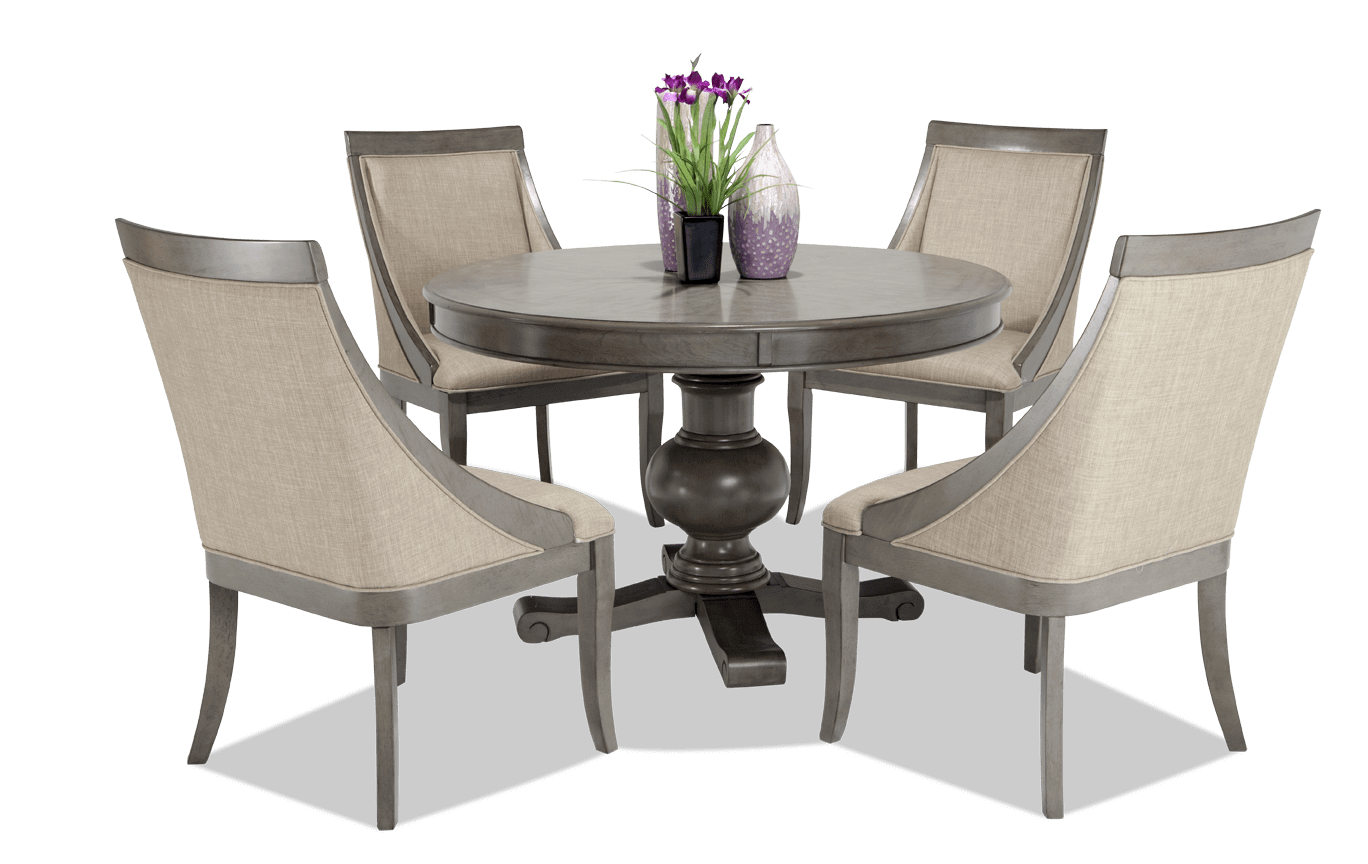 Best Gatsby Round 5 Piece Dining Set With Swoop Chairs Dining 400 x 300