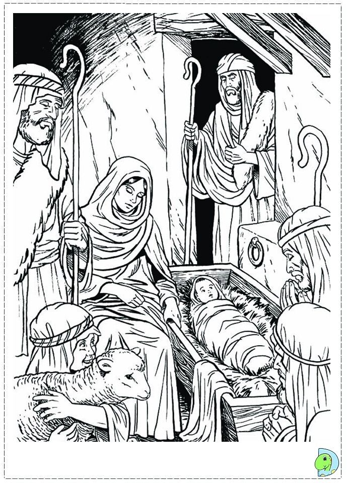 Nativity Coloring Page Nativity Coloring Pages Nativity Coloring Christmas Coloring Pages
