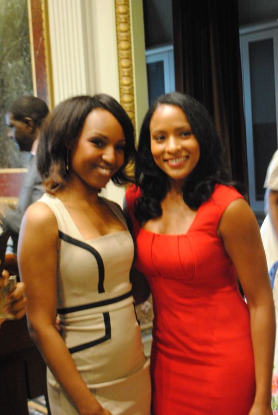 Danella Sealock Nbc 4 Washington Traffic Reporter With Samantha Boyce At Karib Nation S White House Event To Celebrate Caribbean American Heritage Month
