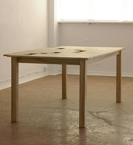 Hidden Desk Secret Spaces In A Simple Wood Dining Table
