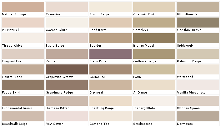 Kwal Paint Color Samples