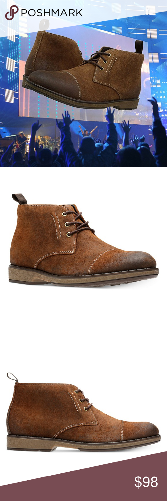 fb6c7a5fe01b3 I just added this listing on Poshmark: Clarks Men's Hinman Mid Chukka Boots  Suede. #shopmycloset #poshmark #fashion #shopping #style #forsale #Clarks  #Other
