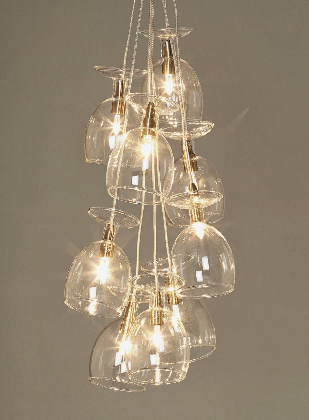 Wine glass light fitting
