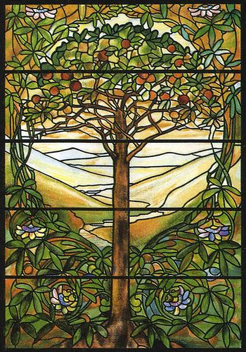 Tiffany Designs Stained Glass Coloring Book color image | Colour ...