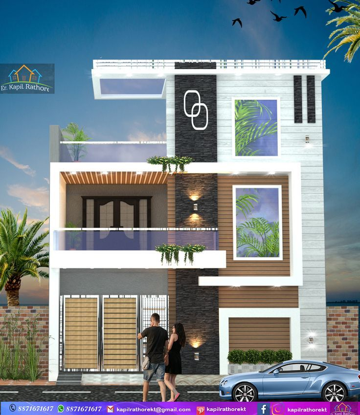 22 Ft Modern Elevation Small House Front Design House Front Design Duplex House Design