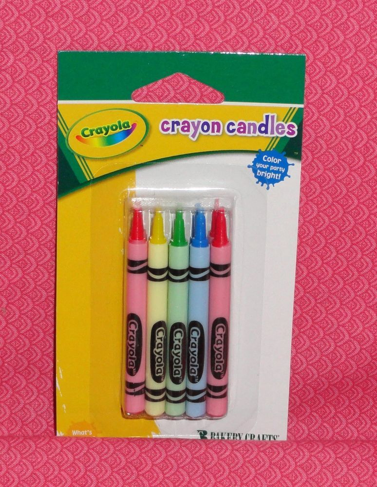 Crayon Candles Crayola 10 Count Birthday Cake Decoration Cupcake Toppers