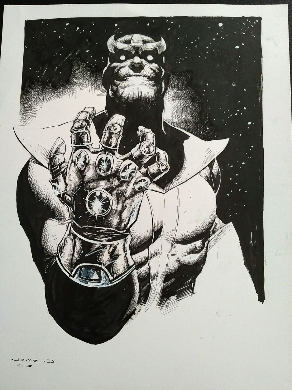 Thanos by Jerome Opena - Thanos Comic Art ... °°