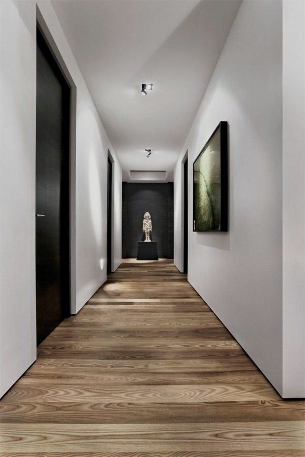 nice apartment with parquet flooring in the hallway great interior ...