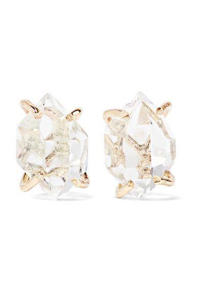 14-karat Gold Emerald Earrings - one size Melissa Joy Manning RnzJVTN