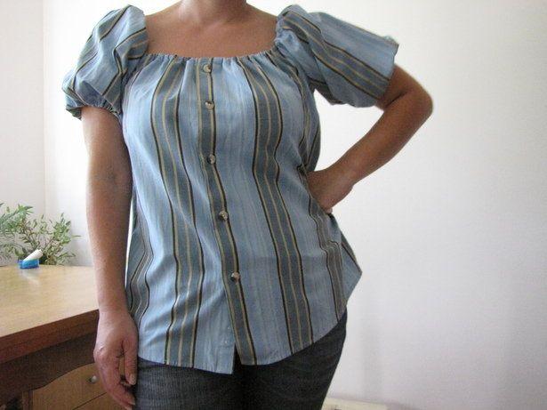Camicia da donna da una camicia da uomo - Stripes in (re)fashion