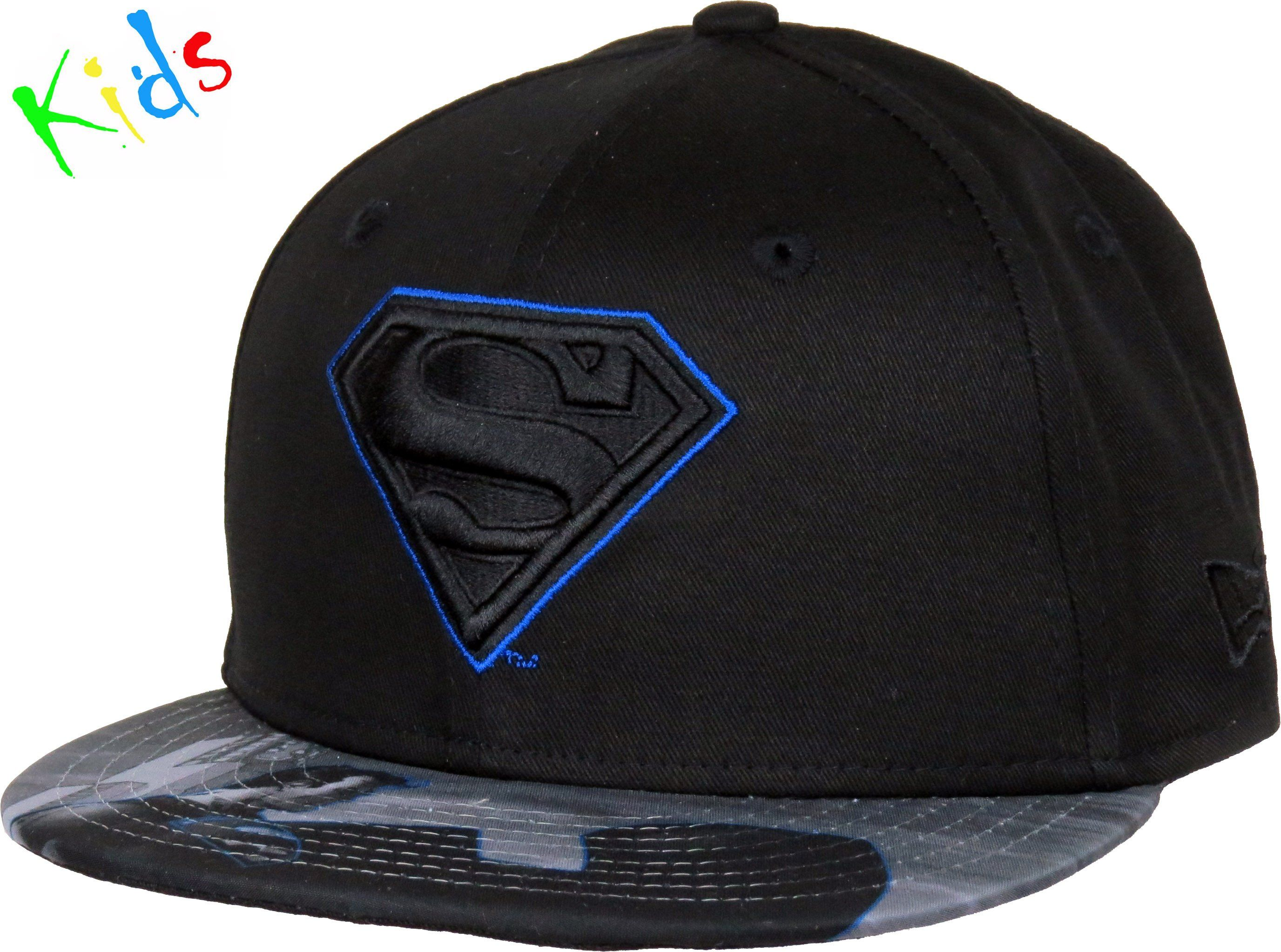 928c91a3a7f ... top quality superman new era kids 950 character outline black cap ages  4 10 yea lovemycap