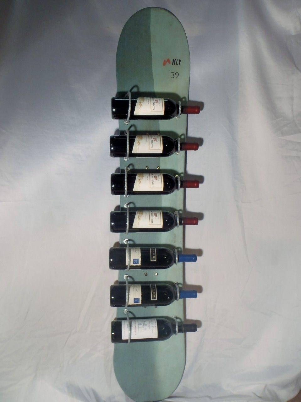 Pin By Paul Neale On Diy Crafts Snowboard Wine Rack Wine