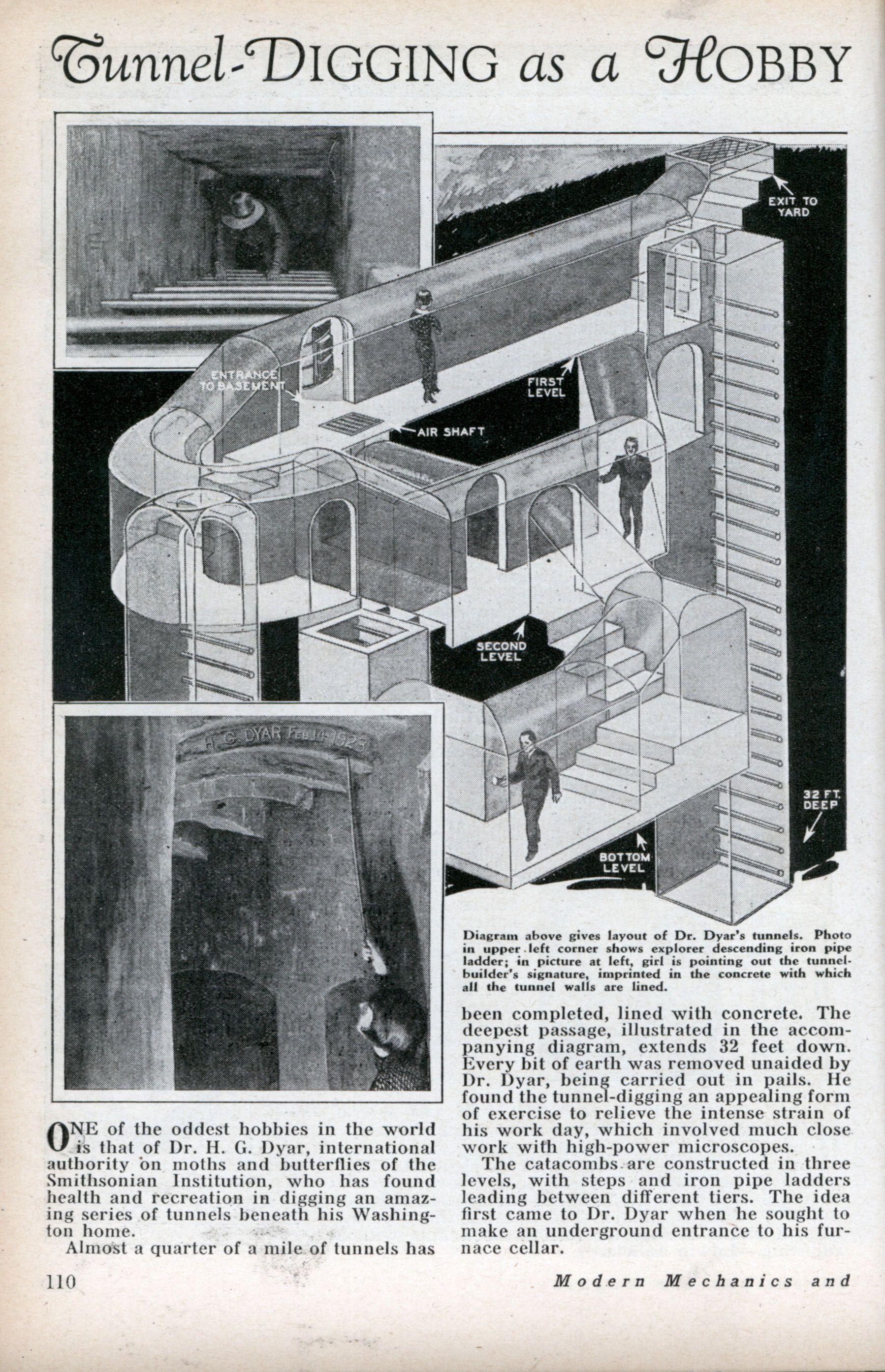 Tunnel digging as a hobby aug 1932 underground shelter